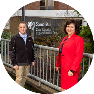 Image of two executives from Samaritan Health